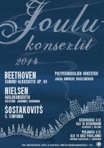 Christmas concert poster 2014